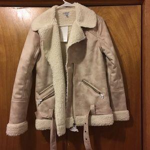 suede aviator jacket